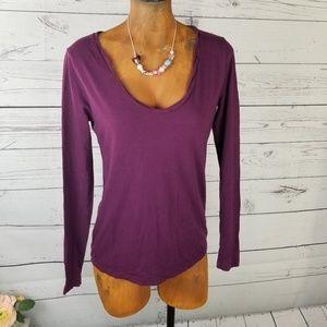 ⚡Loft Blouse Long Sleeve Medium Purple